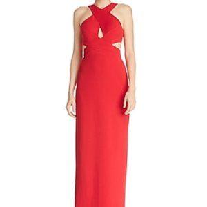 New Aidan Mattox Scuba Cut Out Evening Prom Dress